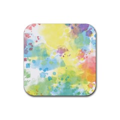 Abstract Pattern Color Art Texture Rubber Square Coaster (4 Pack)