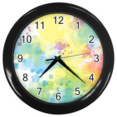 Abstract Pattern Color Art Texture Wall Clock (black)