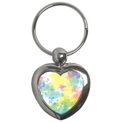 Abstract Pattern Color Art Texture Key Chains (heart)