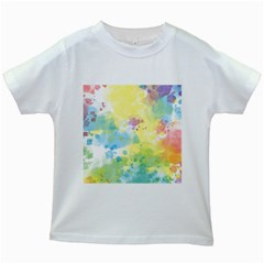 Abstract Pattern Color Art Texture Kids White T Shirts