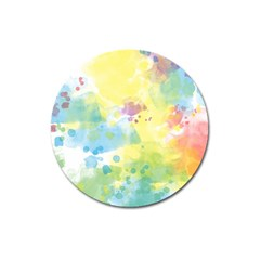 Abstract Pattern Color Art Texture Magnet 3  (round)