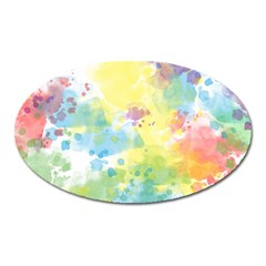 Abstract Pattern Color Art Texture Oval Magnet
