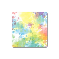 Abstract Pattern Color Art Texture Square Magnet