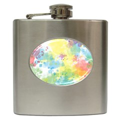 Abstract Pattern Color Art Texture Hip Flask (6 Oz)