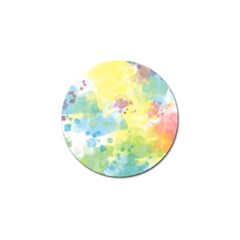Abstract Pattern Color Art Texture Golf Ball Marker