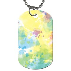 Abstract Pattern Color Art Texture Dog Tag (two Sides)