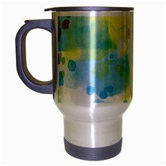 Abstract Pattern Color Art Texture Travel Mug (silver Gray)