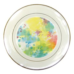 Abstract Pattern Color Art Texture Porcelain Plates