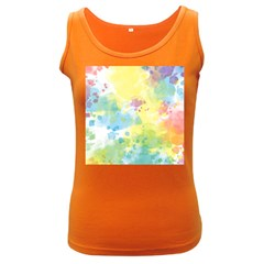 Abstract Pattern Color Art Texture Women s Dark Tank Top