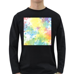 Abstract Pattern Color Art Texture Long Sleeve Dark T Shirt