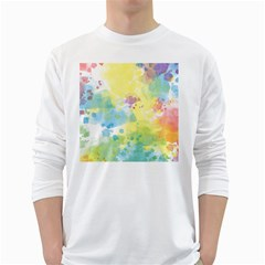 Abstract Pattern Color Art Texture Long Sleeve T Shirt