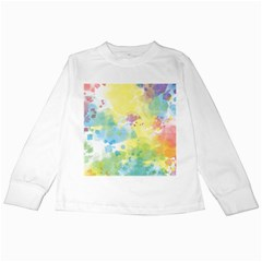 Abstract Pattern Color Art Texture Kids Long Sleeve T Shirts