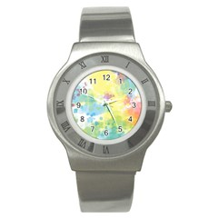 Abstract Pattern Color Art Texture Stainless Steel Watch