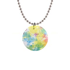 Abstract Pattern Color Art Texture 1  Button Necklace