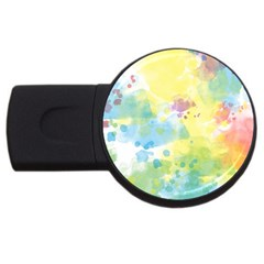 Abstract Pattern Color Art Texture Usb Flash Drive Round (4 Gb)