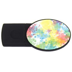 Abstract Pattern Color Art Texture Usb Flash Drive Oval (4 Gb)
