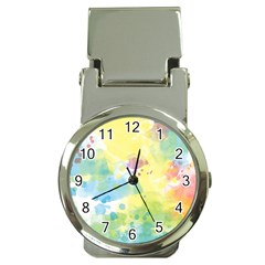 Abstract Pattern Color Art Texture Money Clip Watches