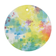 Abstract Pattern Color Art Texture Round Ornament (two Sides)