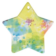 Abstract Pattern Color Art Texture Star Ornament (two Sides)
