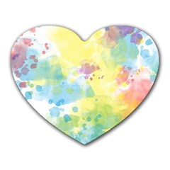 Abstract Pattern Color Art Texture Heart Mousepads