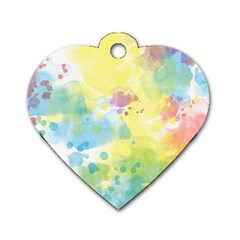 Abstract Pattern Color Art Texture Dog Tag Heart (two Sides)