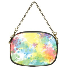 Abstract Pattern Color Art Texture Chain Purse (one Side)