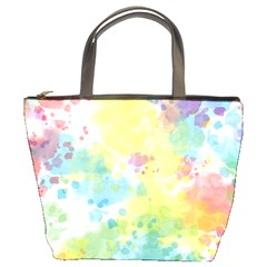 Abstract Pattern Color Art Texture Bucket Bag
