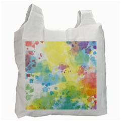 Abstract Pattern Color Art Texture Recycle Bag (one Side)