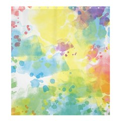 Abstract Pattern Color Art Texture Shower Curtain 66  X 72  (large)