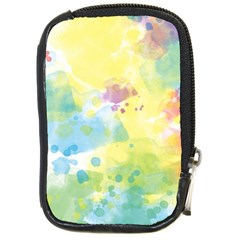 Abstract Pattern Color Art Texture Compact Camera Leather Case