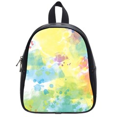 Abstract Pattern Color Art Texture School Bag (small)