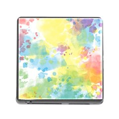 Abstract Pattern Color Art Texture Memory Card Reader (square 5 Slot)