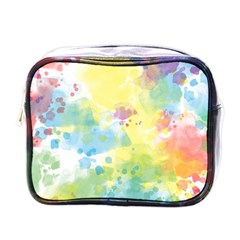 Abstract Pattern Color Art Texture Mini Toiletries Bag (one Side)