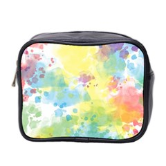 Abstract Pattern Color Art Texture Mini Toiletries Bag (two Sides)