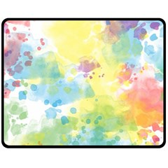 Abstract Pattern Color Art Texture Fleece Blanket (medium)