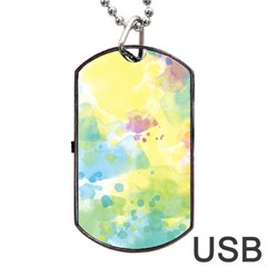 Abstract Pattern Color Art Texture Dog Tag Usb Flash (one Side)