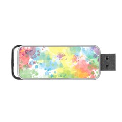 Abstract Pattern Color Art Texture Portable Usb Flash (two Sides)