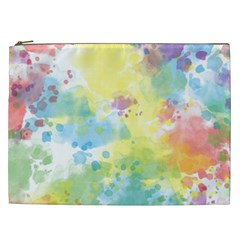 Abstract Pattern Color Art Texture Cosmetic Bag (xxl)