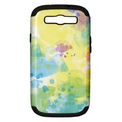 Abstract Pattern Color Art Texture Samsung Galaxy S Iii Hardshell Case (pc+silicone)