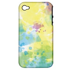 Abstract Pattern Color Art Texture Apple Iphone 4/4s Hardshell Case (pc+silicone)