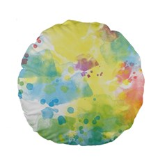 Abstract Pattern Color Art Texture Standard 15  Premium Round Cushions