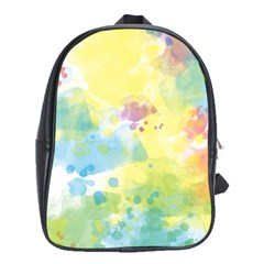 Abstract Pattern Color Art Texture School Bag (xl)