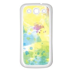 Abstract Pattern Color Art Texture Samsung Galaxy S3 Back Case (white)