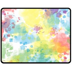 Abstract Pattern Color Art Texture Double Sided Fleece Blanket (medium)