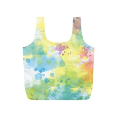 Abstract Pattern Color Art Texture Full Print Recycle Bag (s)