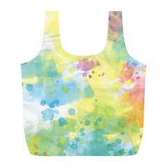 Abstract Pattern Color Art Texture Full Print Recycle Bag (l)