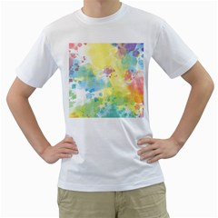 Abstract Pattern Color Art Texture Men s T Shirt (white)