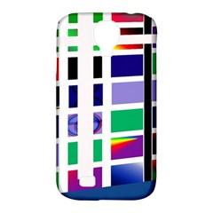 Color Graffiti Pattern Geometric Samsung Galaxy S4 Classic Hardshell Case (pc+silicone)