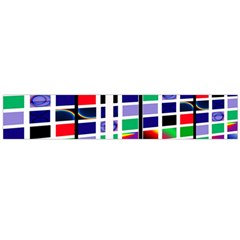 Color Graffiti Pattern Geometric Large Flano Scarf  by Nexatart