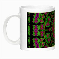 Flowers And More Floral Dancing A Happy Dance Night Luminous Mugs by pepitasart
